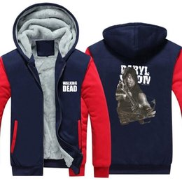 $enCountryForm.capitalKeyWord Australia - Winter Casual Thickened Hoodie Best seller Coats Game WALKING DEAD print Cashmere Keep warm Thick Jackets cotton material Zipper Sweatshirts