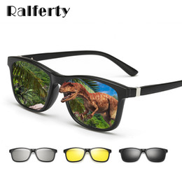 3d Vision Australia - Ralferty 2018 Multi-function Magnetic Polarized Clip On Sunglasses Men Women Ultra-light Tr90 3d Yellow Night Vision Glasses Y19052004