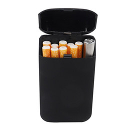 $enCountryForm.capitalKeyWord Australia - Multi Function Cigarette Case with Lighter USB Charge Flip Cover Metal Case Portable Pop Up As Gift