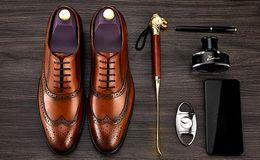 $enCountryForm.capitalKeyWord NZ - Men luxury Business Dress Shoes Genuine leather Brooker Carving celebrity style moccasin gentlemen shoes size 38-44