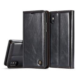 Iphone 5s Flip Case Magnetic Australia - Luxury Leather Magnetic Flip Wallet Cover For iPhone XS XR MAX 7 8 6 Plus 5 5S SE Case Bag