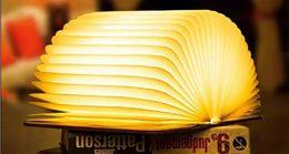 Portable Bedside Table Australia - LED Book Lamp Wood Creative Charging USB Portable Paper Turning Origami Night Lamp Gift Bedside Table Lamp