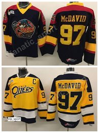 College hoCkey jerseys online shopping - Premier OHL With COA Connor McDavid Erie Otters Jerseys Edmonton College McDavid Jersey Men Yellow Alternate Black Stitched Hot Selling