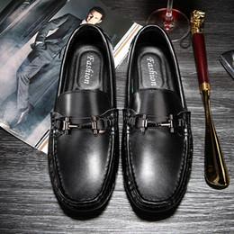 $enCountryForm.capitalKeyWord Australia - Men Luxury Loafers Summer Man Casual Shoes Split Leather Designer Loafers Mens Car Driving Shoes Moccasin Gommino Slip On Mens Loafer Black