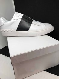 Shoe Box Sales NZ - wholesale cheap men women luxury designer sneakers open shoes with top quality 9 colors original box size 34-46 for sale