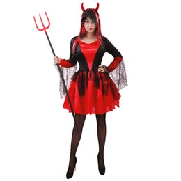 $enCountryForm.capitalKeyWord Australia - Adult Devil Girl's Costumes For Customized Demon Women Dress For Halloween Party Fancy Dress Outfit Costumes