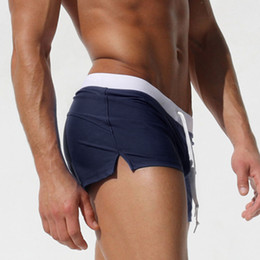 $enCountryForm.capitalKeyWord NZ - European and American men's swimming trunks, flat swimming trunks, fashion back pocket design, foreign trade beach pants, breathable and qui