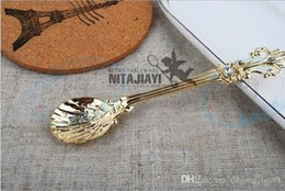 vintage ice cream spoons NZ - Vintage Alloy Coffee Spoon Crown Palace Carved Dining & Bar Tableware Small Tea Ice Cream Sugar Cake Dessert Dinnerware Spoons Scoop