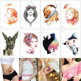 f7e0a875f Beauty Women Temporary Tattoo Sticker Fashion Waterproof Decal Body Art Kids  Children Men Punk Design Tattoo Water Transfer Fake Wing Flower