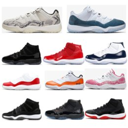 Discount table tennis shoes for size 2019 basketball shoes for mens top quality 11s CONCORD 23 45 LIGHT BONE SNAKESKIN Gym-red womens trainers sports sneaker