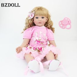 pp housing Australia - 60cm Silicone Reborn Baby Doll Toys 24inch Vinyl Princess Toddler Babies Dolls Alive Birthday Gift Play House Toy Girls Bonecas T200209