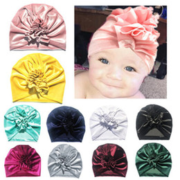 $enCountryForm.capitalKeyWord NZ - Ins Baby hat Infants Newborn Pleuche Turban hats Indian Caps Maternity 2018 Fall winter 11 Colors Cheap price Wholesale Beanie hats baby