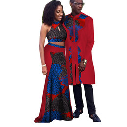Chinese  Africa Style Couple Clothes New Fashion Spring African Dresses for Sweet Lover Dashiki Plus Size Africa Clothing WYQ67 manufacturers