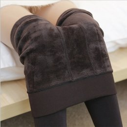$enCountryForm.capitalKeyWord Australia - Nessaj Autumn Winter Fashion Women's Plus Cashmere Tights High Quality Knitted Velvet Tights Elastic Slim Warm Thick Tights