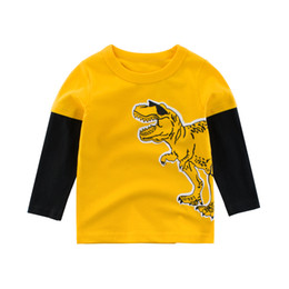 tees long winter Australia - Kids Boys T Shirts Long-Sleeve Tees Animal Children Cartoon Cotton Print Dinosaur Autumn Spring Clothing Clothes Girls Toddler