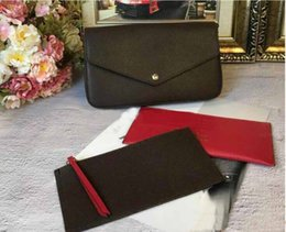 Ladies siLk beLts online shopping - AAA Qualit New Genuine Leather Fashion Chain Shoulder Bags Handbag Presbyopic Mini Wallets Mobile Card Holder Purse M61276 Triple