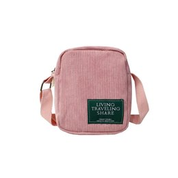 Corduroy Diagonal Small Woman Bag Mini Korean Version Of The New Shoulder  Small Cross Bag Crossbody Bags For Men And Women 2019 db31f4261f06a