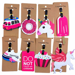 Cartoon travel suitCase online shopping - Travel Accessories Creative Baggage Boarding Tags Luggage Tag Animal Cartoon Silica Gel Suitcase ID Addres Holder Portable Label Retail