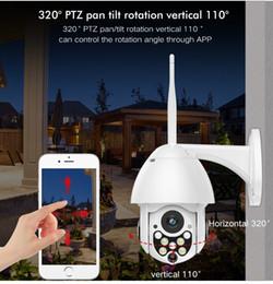 venda por atacado 1080p Cloud Storage Wireless PTZ IP Câmera 4x Digital Zoom Velocidade Câmera Câmera Ao Ar Livre Wi-Fi Áudio P2P CCTV Vigilância