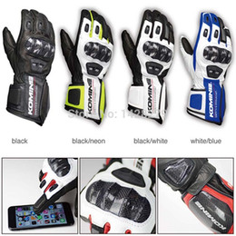 Full Carbon Fiber Car Australia - Motorcycle Gloves Screen-touch GK198 Leather Gloves Carbon Fiber Riding car racing off-road anti-fall