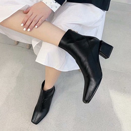 $enCountryForm.capitalKeyWord NZ - Women Boots Low Heels Ankle Boots Fashion 2019 Color Block Chunky Heel Ladies Short Shoes Female Colorful Shoes Korean Style jasmine11