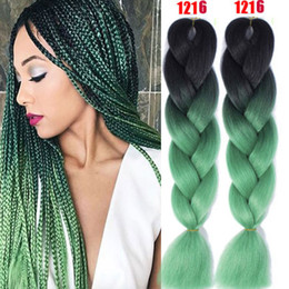 tone hair for braiding Australia - 24'' Omber Jumb Braiding Twist Hair Extensions Sythentic 2 Tone Crochect Braids Hair Products For Black Women Hight Temperature Hair Bulks