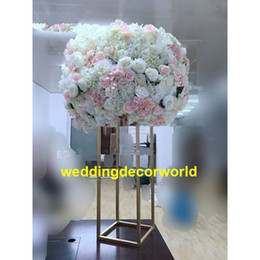 Metal Orchid Australia - no flowers including )New design artificial floral stand metal table top centerpiece without butterfly orchid decor0587