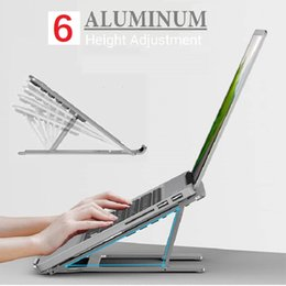 $enCountryForm.capitalKeyWord Australia - Aluminium alloy Laptop Stand with six gears height adjustment for foldable Portable Tablet Holder For MacBook Air Mac Book Pro 120 Degree