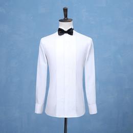 2019 de Moda de Nova Noivo Smoking camisas Tailcoat shirt casamento branco preto Homens Red Shirts ocasião formal homens Camisas de vestido de alta qualidade em Promoção