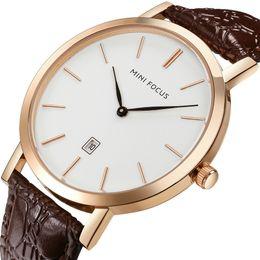 $enCountryForm.capitalKeyWord Australia - Concise Male Wrist Watch Japan Mechanism Calendar Waterproof Genuine Leather Watchband Quartz Male Surface