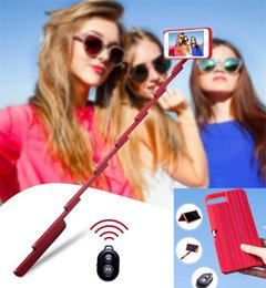 Wholesale 2 in Stickbox Cell Phone Case selfie Sticks bluetooth Remote Shutter Convenient fashionable Fold Mobile Shell for plus X XS