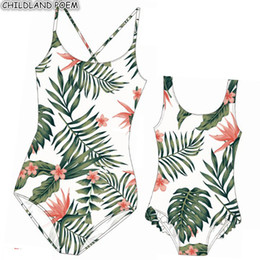 $enCountryForm.capitalKeyWord NZ - Matching Mother Daughter Swimsuits Mom And Daughter Swimwear Floral Print Family Look Mommy And Me Bathing Suit Clothes Outfits Y19051103