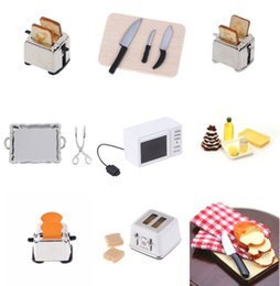 $enCountryForm.capitalKeyWord Australia - iniature For Doll House Microwave Bread Cooking Board Knife Chopping Block Pretend Play Kitchen Toy 1: 12 1:6 Scale M