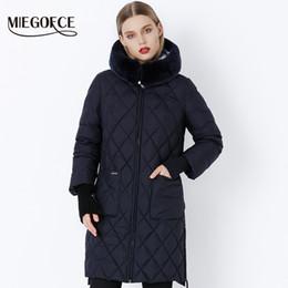 Original Parkas Australia - 2018 MIEGOFCE New Collection Winter Women Jacket Coat Original Fur Collar Women Parkas Fashion Brand Womens Cotton Padded Jacket
