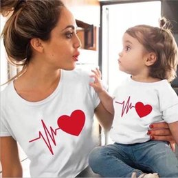 mommy daughter shirts NZ - Family Tshirts Girls Boys Mom Mother Mommy and Daughter Son Family T-shirt Family Look Matching T-shirt Mom Mommy and Me Clothes#sjk