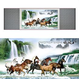 $enCountryForm.capitalKeyWord Australia - Top Quality Chinese Horse Be Painting Horse Art Painting Silk Scroll Art Painting Eight Horse Painting19062802