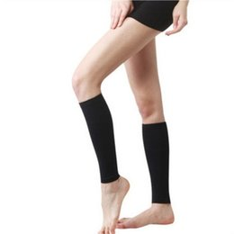 $enCountryForm.capitalKeyWord UK - 1Pair Unisex Calf Compression Socks Stretch Legs Sleeve Support Open Toe knee Stockings Solid Color Leg Warmers For Cycling