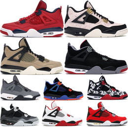 basketball trainers 2019 - Fiba 2019 mushroom Silt Red Splatter 4 4s Jumpman basketball shoes men bred cool grey green grow cavs black cat mens des