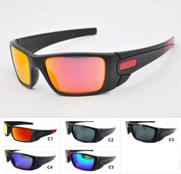Wholesale 5 Colors Mens Sports Sunglasses Cool Big Frame Outdoor O Eyewear Motorbike Eyeglasses Unisex Sun Glasses Cycling Eyewear
