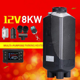 12v heaters for cars 2019 - Car Heater 12V 8KW Parking Air Diesels Heater LCD Monitor 4 Hole with Remote Control + For Motorhome RV Trucks Bus Boat