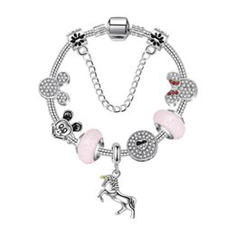543dc9ddd 925 Murano Glass Charm Bracelets Bead Christmas Pony pendant CZ Crystal  Charms Dangle For Women Original DIY Jewelry Style Fit Pandora