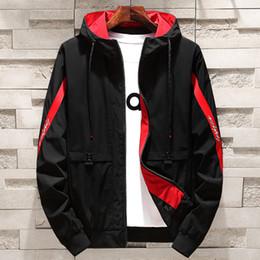 77efaac529c61 Lncdis Plus Size M-4xl Striped Jackets Hoodies Men Casual Loose Bomber  Jacket Mens Cool Coats Chaqueta Hombre Casacos Masculino
