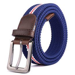 Elastic Boys Belts NZ - Fashions Elastic Woven Belts Men's Women's Breathable Waist Straps Adults Hip Hop Leisure Waistband Unisex Luxury Informal Belts