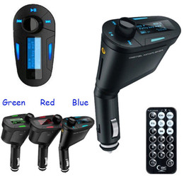 Digital auDio transmitter online shopping - CAR SET FM Transmitter mm Audio MP3 player wireless music Radio USB modulator secure MMC digital memory card with remote control