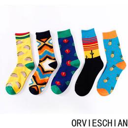 Wholesale floral print socks resale online - 2020 designer sports socks ins socks geometric personality lovers socks multicolor tide brand