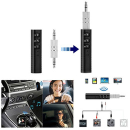 Lg Mini Audio NZ - Universal Mini Bluetooth Receiver Bluetooth Audio Transmitter 3.5mm Jack Handsfree Bluetooth Car Kit Music Adapter Car AUX with retail box