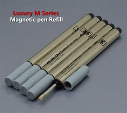 quality writing pens 2019 - Hot Sell - 5pcs High quality Magnetic pen Refill Luxury M series Roller ball pen Black Refills School office Write speci