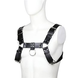 Leather binding tape online shopping - Adult supplies fun and restraint class shoulder leather binding corset sling couple flirting passion sex tools