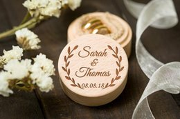 Wooden Ring Wholesale Jewelry Australia - Personalized Bride Groom Ring Bearer Box Custom Wedding Party Jewelry Holder Box Wooden Wedding Gifts Party Accessories