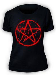 $enCountryForm.capitalKeyWord Australia - Pentagram T-Shirt SCREENPRINTED Ladies Womens Rock Goth Punk Metal Biker Gothic Cool Casual pride t shirt men Unisex New tshirt
